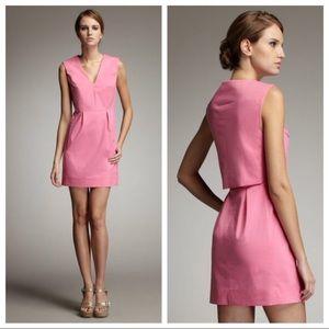 Diane Von Furstenberg Fumi Poplin V neck dress, 2